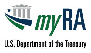 Financial MyRA Logo Dept of Treasur Color